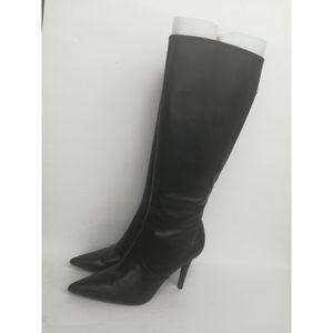 Lauren Ralph Lauren Black Leather High Heeled Boot